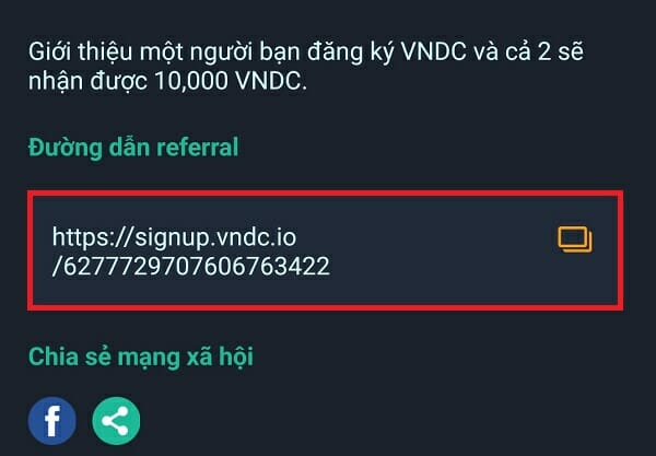 link referral vndc
