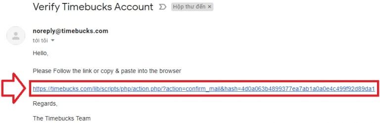 xác minh email timebucks