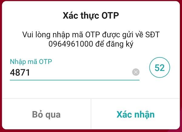 mã xác thực OTP