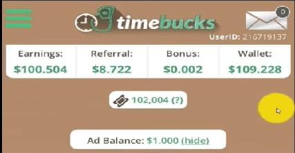 thu nhập timebucks