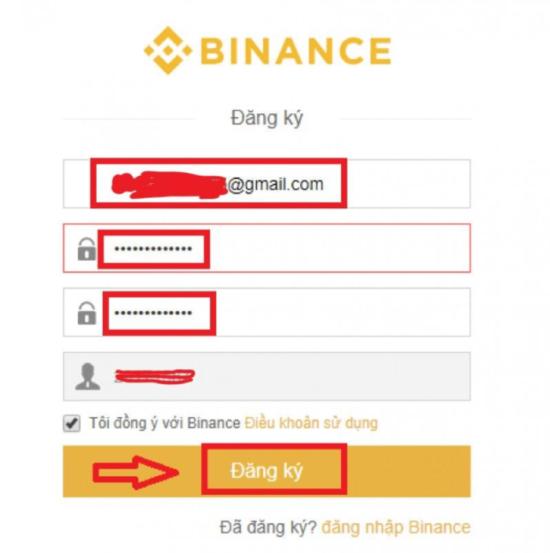 Điền Email và mật khẩu
