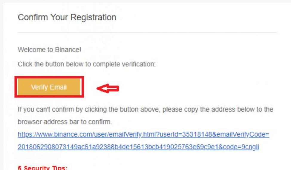 """nhấn chọn""""Verify email""""để xác thực"""