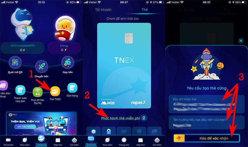 Đăng ký mở thẻ ATM online