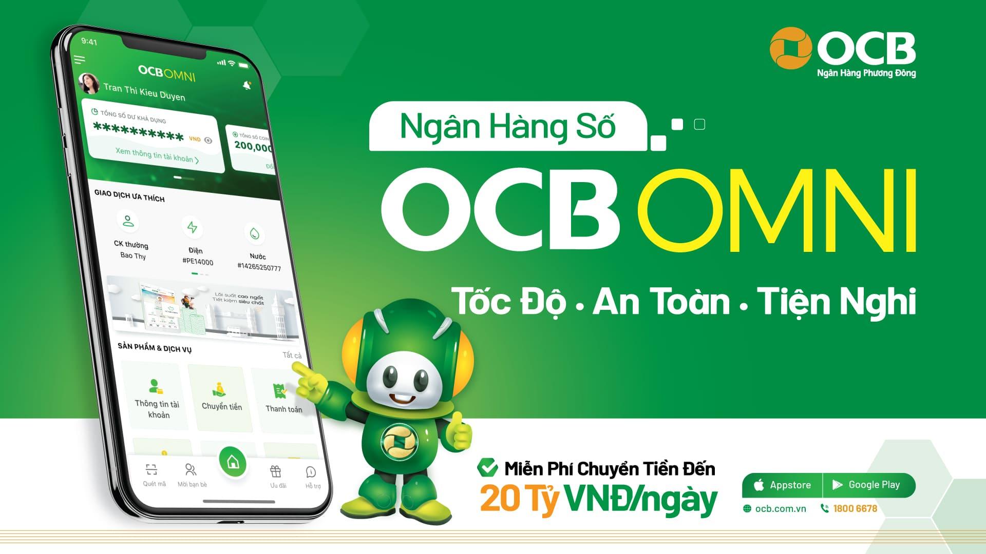 ngân hàng số OCB OMNI