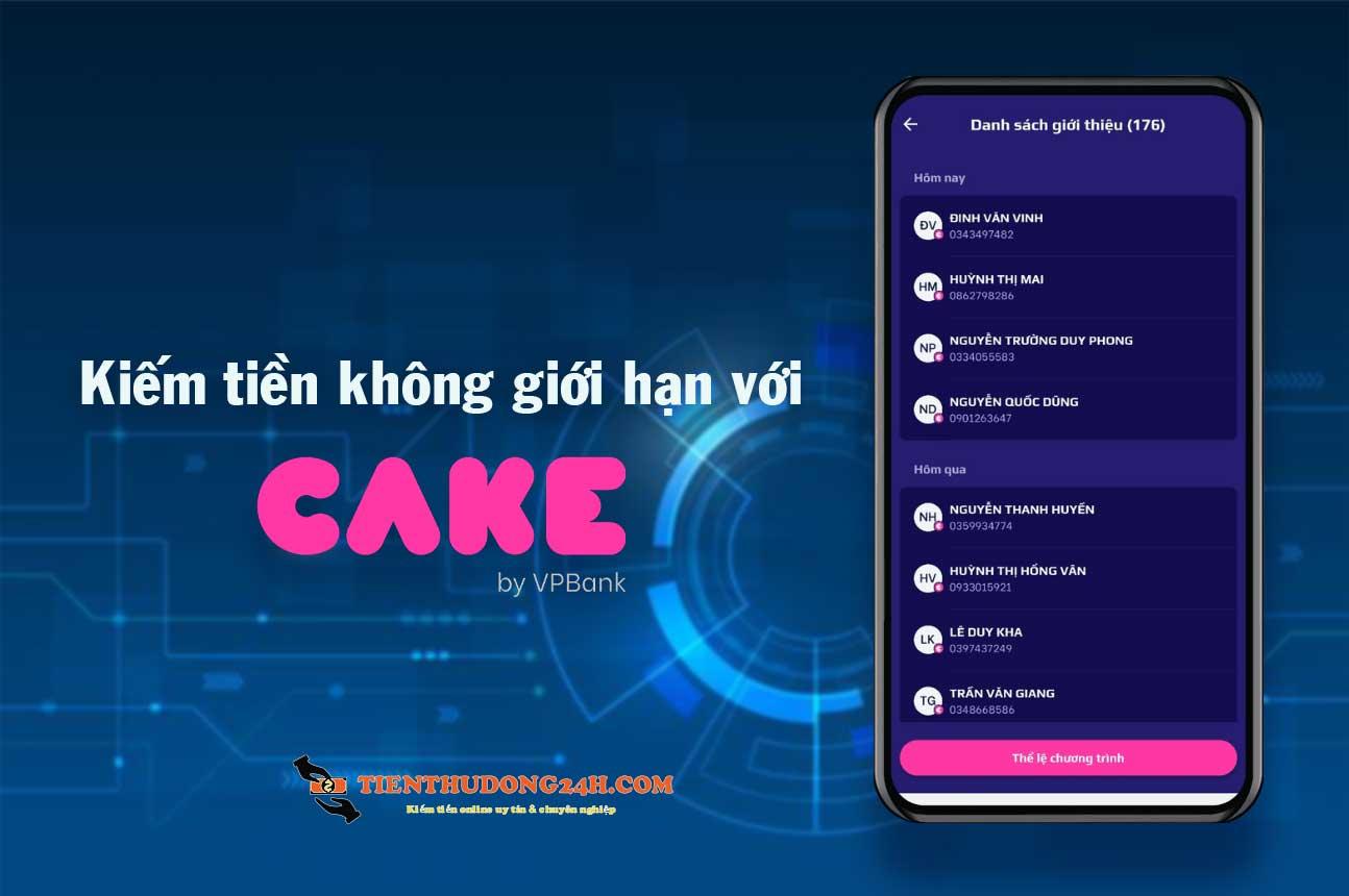 Kiếm tiền với Cake by vpbank